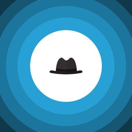 Panama Vector Element Can Be Used For Fedora, Hat, Panama Design Concept.  Isolated Fedora Flat Icon.