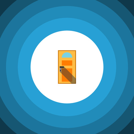 doorknob: Exit Vector Element Can Be Used For Entry, Exit, Approach Design Concept.  Isolated Entry Flat Icon.