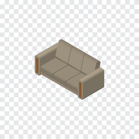 Het Vector Element Van De Koffie Kan Voor Bank, Bank, Zetel Ontwerpconcept Worden Gebruikt. Isolated Sofa Isometric.