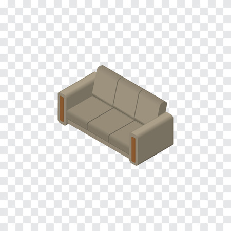 Couch Vector Element Can Be Used For Couch, Sofa, Settee Design Concept.  Isolated Sofa Isometric. Illustration