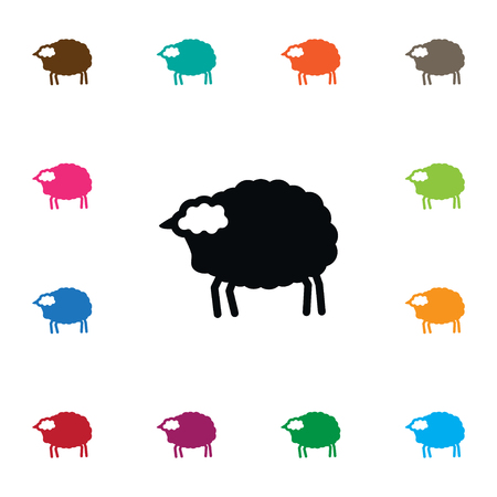 flocks: Lamb Vector Element Can Be Used For Livestock, Lamb, Sheep Design Concept.  Isolated Livestock Icon.