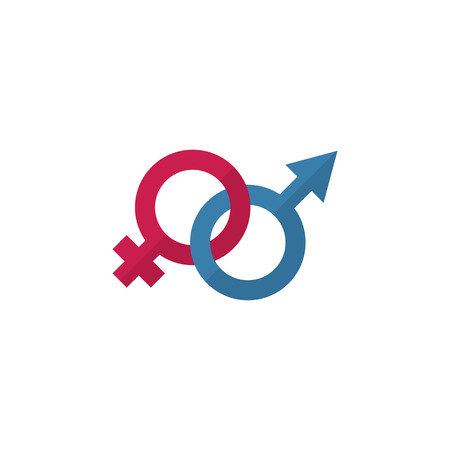 Sexuality Symbol Vector Element Can Be Used For Gender, Sign, Sexuality Design Concept.  Isolated Gender Signs Flat Icon.