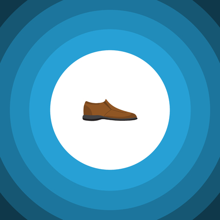 Isolated Man Shoe Flat Icon. Male Footware Vector Element Can Be Used For Man, Shoe, Footware Design Concept.