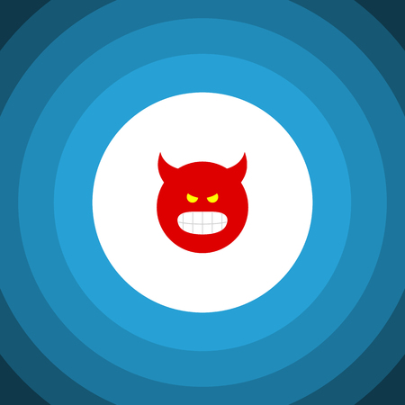 Isolated Angry Flat Icon. Pouting Vector Element Can Be Used For Pouting, Angry, Smile Design Concept. Vector Illustration