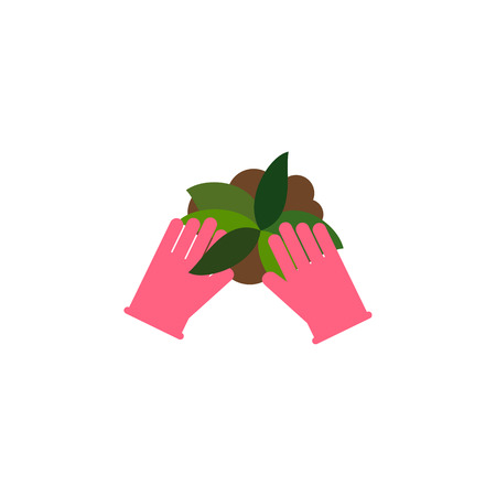 Isolated Sow Flat Icon. Plant Vector Element Can Be Used For Sow, Plant, Glove Design Concept.