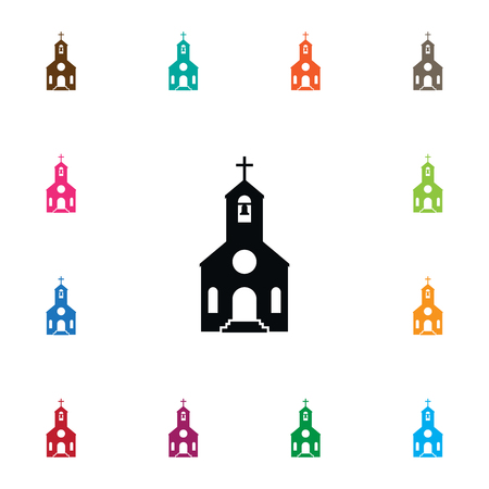 Isolated Catholic Icon. Faith Vector Element Can Be Used For Faith, Religion, Catholic Design Concept.