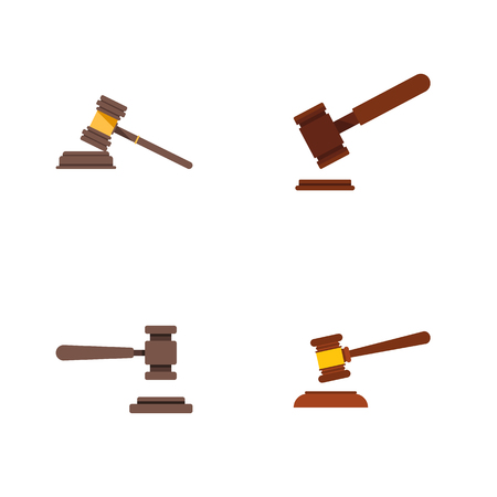 Flat Icon Court Set Of Justice, Hammer, Court And Other Vector Objects. Also Includes Legal, Court, Law Elements.
