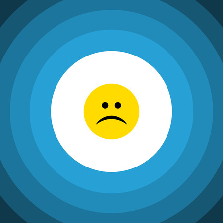 quandary: Isolated Frown Flat Icon. Sad Vector Element Can Be Used For Sad, Frown, Emoji Design Concept.