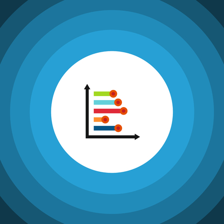 Isolated Diagram Flat Icon. Infographic Vector Element Can Be Used For Infographic, Diagram, Chart Design Concept.