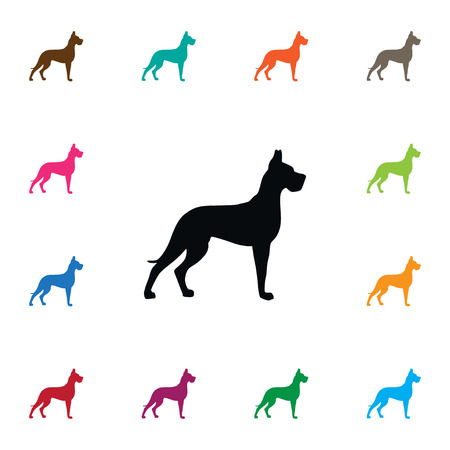 Isolated Hound Icon. Whippet Vector Element Can Be Used For Whippet, Hound, Dog Design Concept.