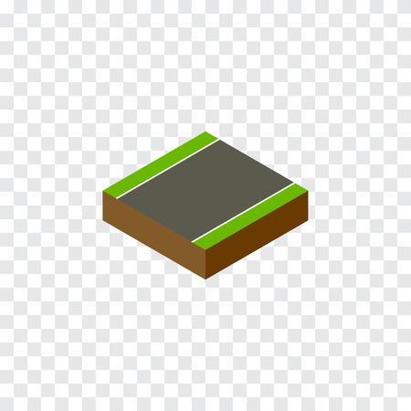 unilateral: Isolated Without Strip Isometric. Unilateral Vector Element Can Be Used For Unilateral, Strip, Road Design Concept.