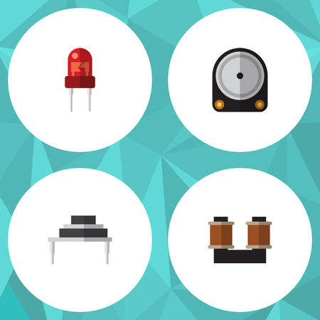recipient: Flat Icon Electronics Set Of Destination, Hdd, Coil Copper And Other Vector Objects. Also Includes Recipient, Hard, Resistor Elements.