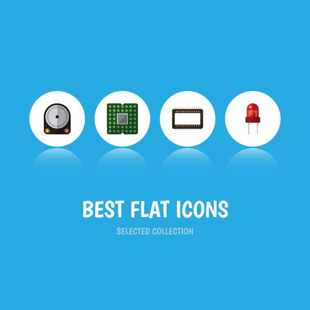 Flat Icon Appliance Set Of Unit, Hdd, Mainframe And Other Vector Objects. Also Includes Transducer, Recipient, Central Elements.