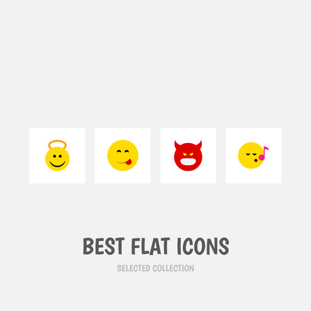 indignant: Flat Icon Gesture Set Of Descant, Pouting, Delicious Food And Other Vector Objects