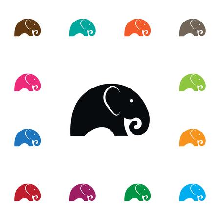 アイボリー、象、トランク デザインのコンセプトのアイボリーのベクターの要素を使用できます。 インド象アイコンを分離しました。