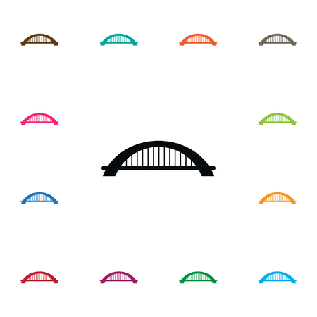 Arch Vector Element Can Be Used For Suspension, Bridge, Arch Design Concept.  Isolated Suspension Icon. Illustration