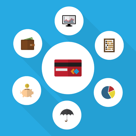 billfold: Flat Icon Finance Set Of Payment, Billfold, Counter And Other Vector Objects Illustration