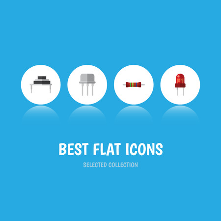 Flat Icon Device Set Of Destination, Recipient, Resistance And Other Vector Objects