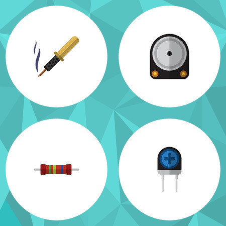 Flat Icon Appliance Set Of Repair, Transducer, Hdd And Other Vector Objects