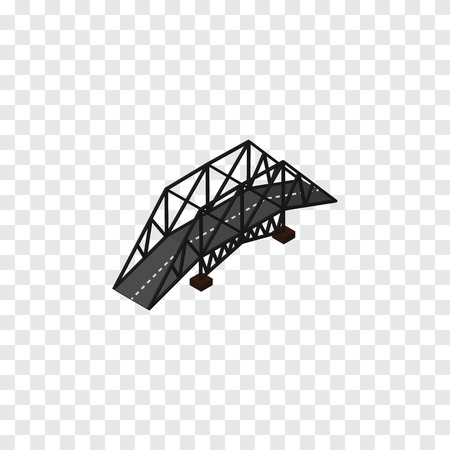 Expressway Vector Element Can Be Used For Bridge, Suspension, Highway Design Concept.  Isolated Suspension Isometric. Illustration