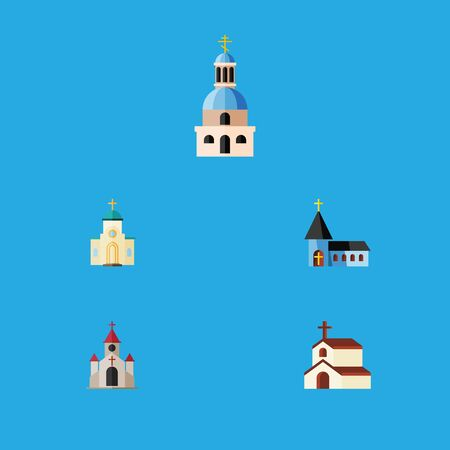 Flat Icon Christian Set Of Church, Traditional, Christian And Other Vector Objects Illustration