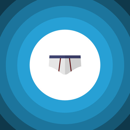 Underclothes Vector Element Can Be Used For Underwear, Underclothes, Briefs Design Concept.  Isolated Underwear Flat Icon.