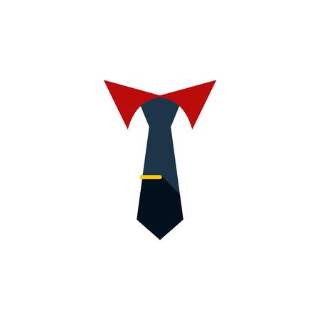 ベクター要素の仕立ては、クラバット, 仕立て、襟のデザイン コンセプトに使用できます。 孤立した首輪フラット アイコン。