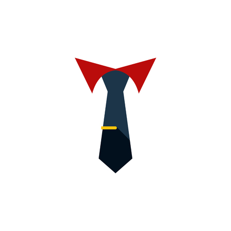 colourful tie: Tailoring Vector Element Can Be Used For Cravat, Tailoring, Collar Design Concept.  Isolated Collar Flat Icon. Illustration