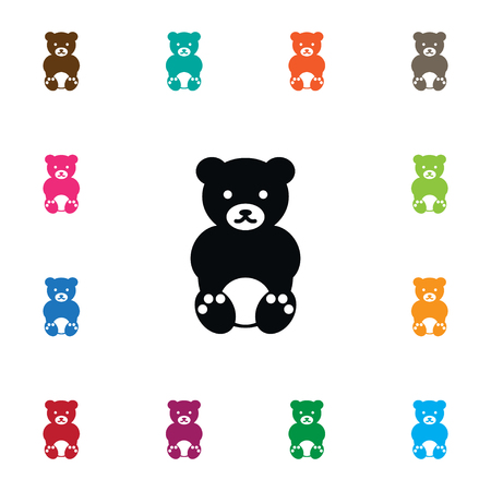 Bruin Vector Element Can Be Used For Teddy, Bruin, Bear Design Concept.  Isolated Teddy Icon.