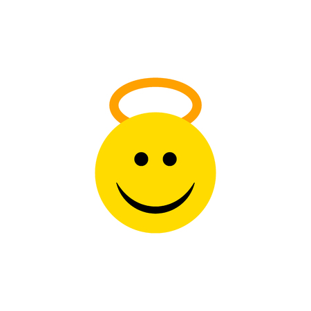 Isolated Cheerful Flat Icon. Angel Vector Element Can Be Used For Angel, Cheerful, Smile Design Concept. Illustration