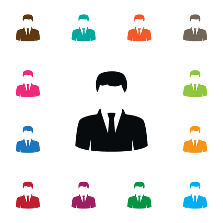 Isolated Statesman Icon. President Vector Element Can Be Used For President, Statesman, Politician Design Concept. Illustration