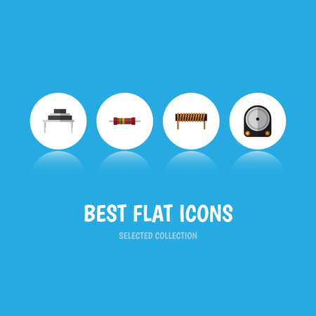 Flat Icon Electronics Set Of Bobbin, Destination, Hdd And Other Vector Objects. Also Includes Drive, Destination, Electronics Elements.