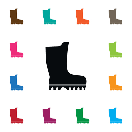 Isolated Galoshes Icon. Footwear Vector Element Can Be Used For Rubber, Footwear, Galoshes Design Concept.
