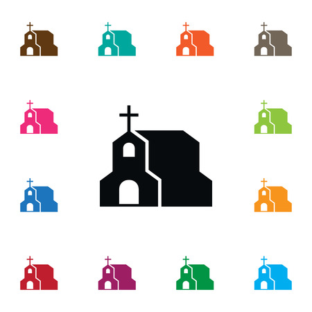 Isolated Chapel Icon. Cross Vector Element Can Be Used For Chapel, Christian, Cross Design Concept. Illusztráció