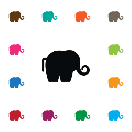 Isolated Ivory Icon. Trunked Animal Vector Element Can Be Used For Ivory, Elephant, Trunked Design Concept.