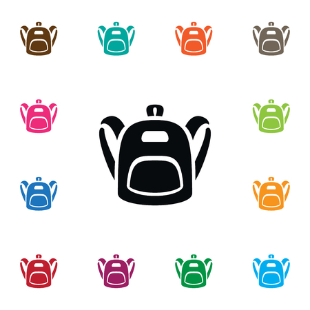 Isolated Schoolbag Icon. Satchel Vector Element Can Be Used For Haversack, Backpack, Bag Design Concept.