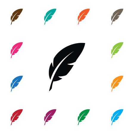 Icône de plume isolée. L'élément de vecteur de plume peut être employé pour la plume, la plume, le concept de stylo.