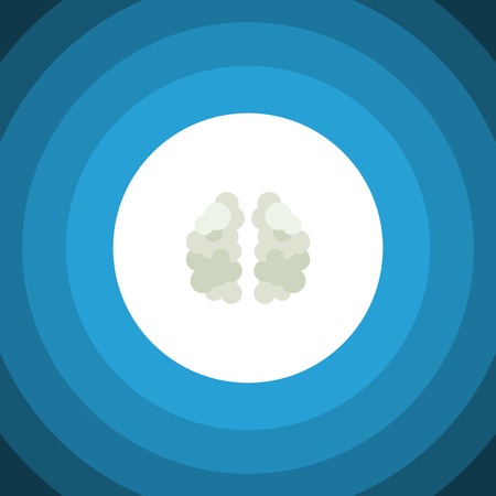 Isolated Mind Flat Icon. Mentality Vector Element Can Be Used For Mentality, Mind, Brain Design Concept. Illustration