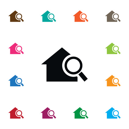 Search Vector Element Can Be Used For Home, Search, Magnifier Design Concept.  Isolated Home Icon. Ilustração