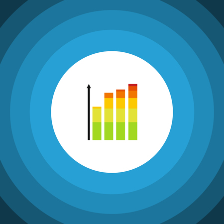 Statistic Vector Element Can Be Used For Infographic, Statistic, Chart Design Concept.  Isolated Infographic Flat Icon.
