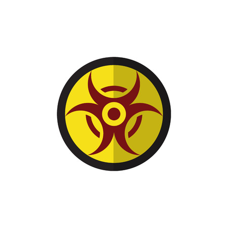 Danger Vector Element Can Be Used For Danger, Risk, Hazard Design Concept.  Isolated Biohazard Flat Icon.