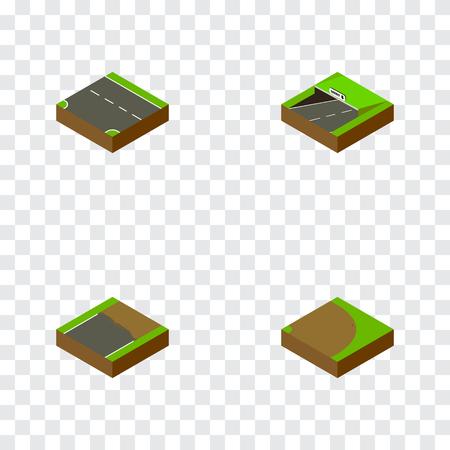 아이소 메트릭도 아래로, 미완성 된, 지하철 및 다른 벡터 개체를 설정합니다. 또한 하향, 지하철, 미완성 요소를 포함합니다. 일러스트