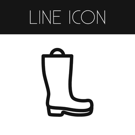 Isolated Galoshes Outline. Wellies Vector Element Can Be Used For Wellies, Galoshes, Boots Design Concept. Illustration