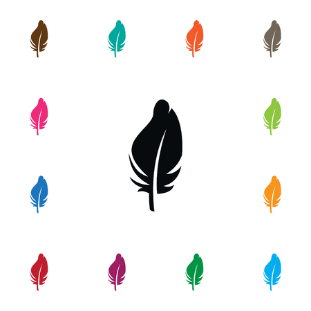 Plumage Vector Element Can Be Used For Plumage, Feathering, Quill Design Concept.  Isolated Quill Icon. Illustration