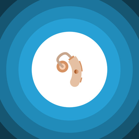 physical impairment: Audiology Vector Element Can Be Used For Hearing, Aid, Audiology Design Concept.  Isolated Hearing Aid Flat Icon.