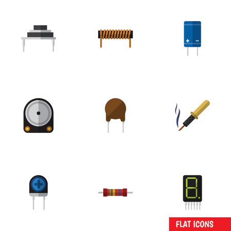 Flat Icon Technology Set Of Destination, Transducer, Repair And Other Vector Objects