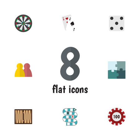 Flat Icon Entertainment Set Of People, Ace, Arrow And Other Vector Objects