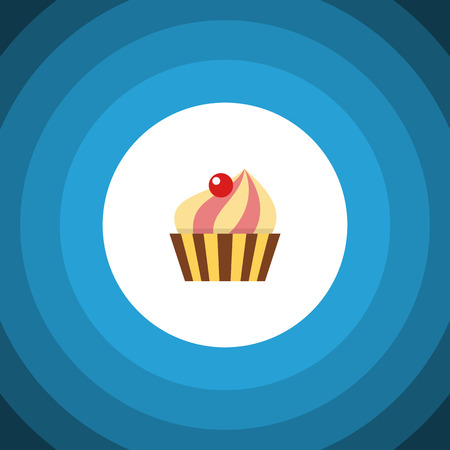 Sweetmeat Vector Element Can Be Used For Sweetmeat, Confectionery, Cupcake Design Concept.  Isolated Confectionery Flat Icon.  Illustration