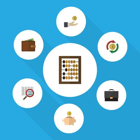 billfold: Flat Icon Gain Set Of Money Box, Billfold, Portfolio And Other Vector Objects Illustration