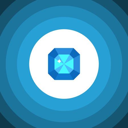 Isolated Diamond Flat Icon Ilustrace